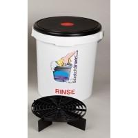 Scratchshield bucket + filter + lid red