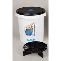 Scratchshield bucket + filter + lid bleu